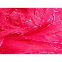 1pc - Echeveau 90 mètres - Ruban Tissu Organza Rose Fuchsia 10mm 4558550007872
