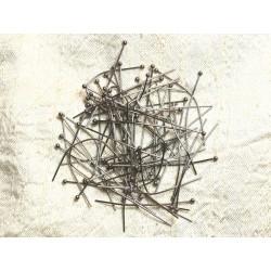 10pc - Tiges Clous à Tête Boule Acier 304L - 40 x 0.5 x 1.8mm 4558550008480