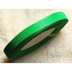 1pc - Bobine 45 mètres - Ruban Tissu Organza Vert 10mm 4558550009906