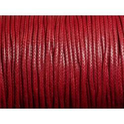 5 Mètres - Cordon de Coton Ciré 1.5mm Rouge Bordeaux 4558550010100