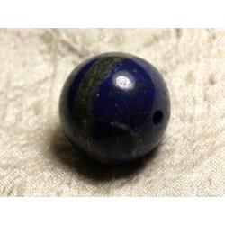 1pc - Perle de Pierre Pendule Métal Argenté Rhodium - Lapis Lazuli Boule 25mm 4558550010438