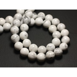 30pc - Perles de Pierre - Howlite Boules 2mm 4558550010582