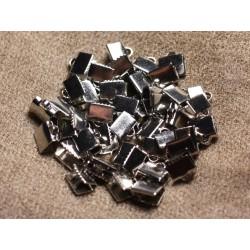 10pc - Embouts Griffe métal argenté qualité Rhodium 7x5mm 4558550010759
