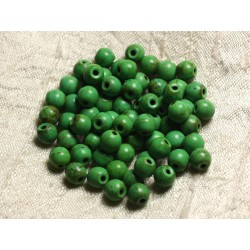 40pc - Perles Turquoise Synthèse Boules 6mm Vert n°2 4558550029393
