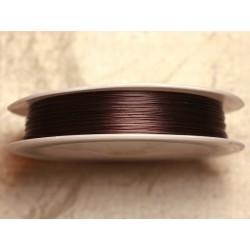 Bobine 70 mètres - Fil Métal Câblé 0.38mm Marron Brun Chocolat 4558550012234