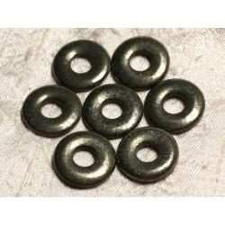 1pc - Pendentif Pierre semi précieuse - Pyrite Dorée Donut 20mm 4558550012517