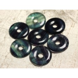 1pc - Pendentif Pierre semi précieuse - Fluorite Donut 30mm 4558550012906