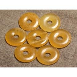 1pc - Pendentif Pierre semi précieuse - Calcite Jaune Donut 30mm 4558550013064