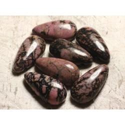 1pc - Pendentif Pierre semi précieuse - Rhodonite Goutte 40mm 4558550013163