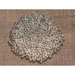 500pc environ - Perles Métal Argenté Qualité Boules 2mm 4558550013330