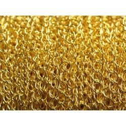 2 Mètres - Chaîne Métal Doré Qualité Mailles Ovales 5 x 3.5mm 4558550013477