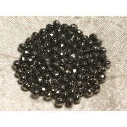 10pc - Perles de Pierre - Pyrite Dorée Boules Facettées 4mm 4558550013712