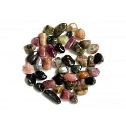 10pc - Perles de Pierre - Tourmaline Multicolore Nuggets 7-14mm 4558550030740