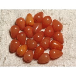 4pc - Perles de Pierre - Jade Gouttes 14x10mm Orange clair 4558550014108
