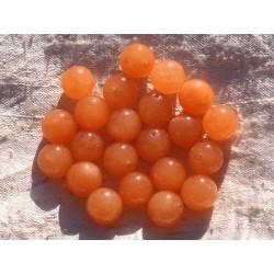 8pc - Perles de Pierre - Jade Boules 12mm Orange 4558550014382
