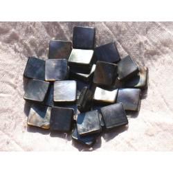 4pc - Perles Nacre noire naturelle - Losanges 16x12mm 4558550014559