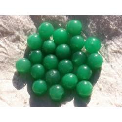 8pc - Perles de Pierre - Jade Boules 12mm Vert 4558550014863