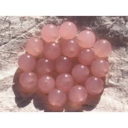 8pc - Perles de Pierre - Jade Boules 12mm Rose clair 4558550015143