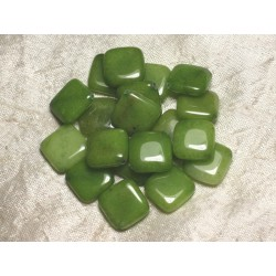 2pc - Perles de Pierre - Jade Verte Losanges 20mm 4558550015167