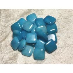 2pc - Perles de Pierre - Jade Bleue Losanges 20mm 4558550015174