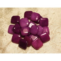 2pc - Perles de Pierre - Jade Violet Fuchsia Losanges 20mm 4558550015389