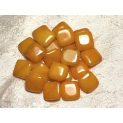 2pc - Perles de Pierre - Jade Jaune Losanges 20mm 4558550015396
