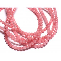 40pc - Perles de Pierre - Jade Boules 4mm Rose Corail 4558550015648