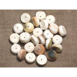 10pc - Perles Oeil de Shiva Sainte Lucie - Palets 12mm 4558550015778