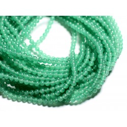40pc - Perles de Pierre - Jade Boules 4mm Vert clair 4558550017192