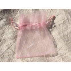 10pc - Sacs Pochettes Cadeaux Bijoux Organza Rose 10x8cm 4558550017406
