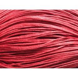 90m - Echeveau Cordon Coton 1mm Rouge 4558550017529