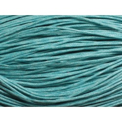 90m - Echeveau Cordon de Coton 1mm Bleu turquoise 4558550018298