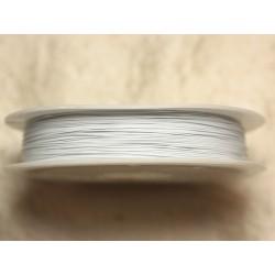 Bobine 70 mètres - Fil Métal Câblé 0.38mm Blanc - 4558550018434