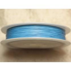 Bobine 70 mètres - Fil Métal Câblé 0.38mm Bleu Ciel Turquoise Azur - 4558550027931