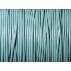 5 Mètres - Cordon de Coton Ciré 1.5mm Bleu Turquoise 4558550019325