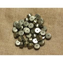 10pc - Perles de Pierre - Pyrite Dorée Rondelles 9x5mm 4558550019516