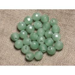 2pc - Perles de Pierre Perçage 2.5mm - Aventurine Facettée 8mm 4558550019592