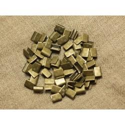 200pc - Embouts sans attache métal Bronze sans nickel 7x5.5mm 4558550019646