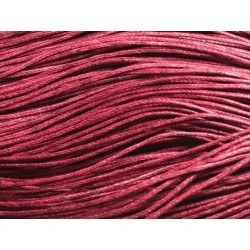 90m - Echeveau Cordon de Coton 1mm Rouge Prune 4558550019752