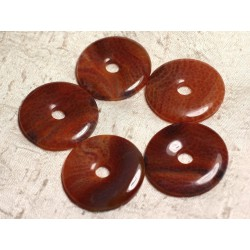 Pendentif en Pierre - Agate de Feu Donut Pi 40mm 4558550020482