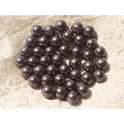 10pc - Perles Nacre Violette Boules 8mm 4558550020512