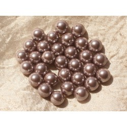 10pc - Perles Nacre Roses Boules 8mm 4558550020826