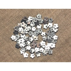 5pc - Perles Breloques Acier Chirurgical Fleurs 6mm 4558550020956
