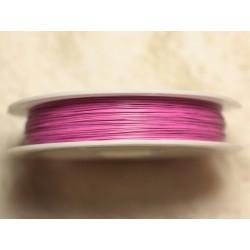 Bobine 70 mètres - Fil Métal Câblé 0.38mm Rose bonbon fluo - 4558550027849
