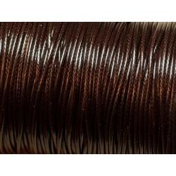 5 Mètres - Cordon de Coton Ciré 1.5mm Marron brun Café 4558550021694
