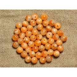 10pc - Perles de Pierre - Calcite Orange Boules 6mm 4558550021908