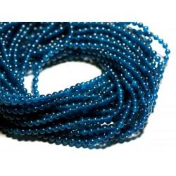 40pc - Perles de Pierre - Jade Boules 4mm Bleu Vert Paon - 4558550017420