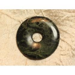 Pendentif Donut Pierre semi précieuse Jaspe Kambaba 45mm n°17 4558550020734
