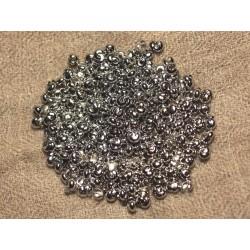 40pc - Cache Perles à écraser Métal Argenté Rhodium 3mm 4558550022493