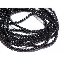 40pc - Perles Turquoise Synthèse Boules 4mm Noir 4558550022622